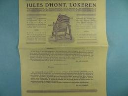 Jules D'Hont Lokeren  Fabrique De Barattes - Advertising