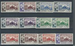 Série Coloniales Francaises 12 Valeurs Neuf - 1954 10e Anniversaire De La Libération