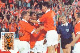 D35150 CARTE MAXIMUM CARD FD 2000 NETHERLANDS - DUTCH SOCCER CHAMPIONSHIP EURO 2000 KLUIVERT DEN BOER JONK CP PHOTOCARD - UEFA European Championship