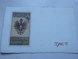 Cartolina Reggimentale I Collegio Militare IV Corso 1908 MAKTT - Documents