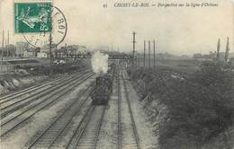 CHOISY LE ROI - Perspective Sur La Ligne D'Orléans.. - Eisenbahnen
