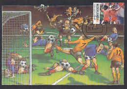 D35151 CARTE MAXIMUM CARD FD 1999 NETHERLANDS - DUTCH SOCCER TEAM EUROPEAN CHAMPION - COMICAL CARD CP ORIGINAL - Famous Clubs