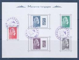 = Bloc Marianne L'Engagée Oblitéré BF143 Composé Timbres 5253 5257 5252 5258 5251 - Blocks & Kleinbögen