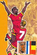 D35152 CARTE MAXIMUM CARD FD 2000 NETHERLANDS - DUTCH SOCCER TEAM + RED DEVILS BELGIUM CP REPROCARD - Famous Clubs