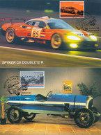 D35154 - 2 CARTES MAXIMUM CARDS RR 2004 NETHERLANDS - RACING CARS SPYKER - RR POSTMARK AUTOTRON ROSMALEN CP ORIGINAL - Cars