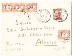 22.02.22 Nachtaxierter Brief Von Capri Nach Alassio - Portomarken