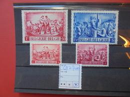 BELGIQUE COB  N°697-700 NEUF* CHARNIERE - Belgique