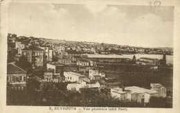 BEYROUTH  Vue Generale (coté Port) RV Cachet Tresor Et Postes 600 - Lebanon