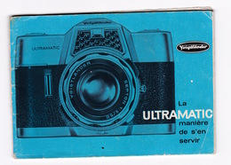 Utile… Notice Mode D'emploi Appareil Photographique Voigländer, Ultramatic - Supplies And Equipment