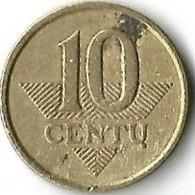 Lot 1 Pièce De Monnaie 10 Centu  1998 - Lituanie