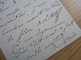 Irma MORIO (1837-1903) Cantrice SOPRANO Artiste Lyrique. AUTOGRAPHE - Autographs