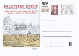 Rep. Ceca / Cart. Postali (Pre2016/03) Frantisek Krizik (1847-1941) Inventore Ceco, Ingegnere Elettrico; Tram A Praga - Fabbriche E Imprese