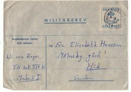 Lettre Du Congo Vers La Suède. Année Non Apparente. Franchise Militaire - Suède
