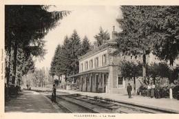 70. CPA.  VILLERSEXEL.  La Gare. Quais. - Other Municipalities