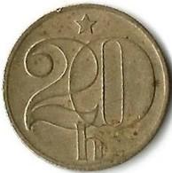 Lot 1 Pièce De Monnaie 20 Haleru 1975 - Czechoslovakia