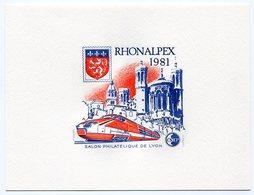 RC 10119 FRANCE BLOC CNEP N° 2 EPREUVE DE LUXE RHONEALPEX TGV LYON 1981 NEUF ** TB MNH - CNEP
