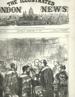 THE ILLUSTRATED LONDON NEWS N.1962 FEBRUARY 17, 1877. ENGRAVINGS CONSTANTINOPLE TURKEY PARLIAMENT BEDUIN ARAB JORDAN - Magazines & Newspapers
