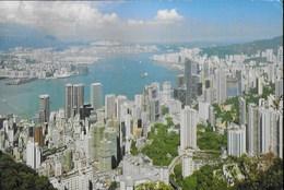 HONG KONG - PANORAMA -  VIAGGIATA 2001  FRANCOBOLLO ASPORTATO - Cina (Hong Kong)