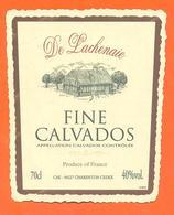 étiquette De Fine Calvados Delachenaie à Charenton - 70 Cl - 40 °/° - Etichette