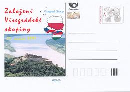 Rep. Ceca / Cart. Postali (Pre2016/04) Istituzione Del Gruppo Visegrad (1991), 25 ° Anniversario - Geografia