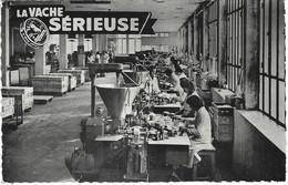 Carte Publicité - La Vache Sérieuse Lons Le Saunier (jura) - Une Partie De L'usine De Fabrications Machines Automatiques - Publicité
