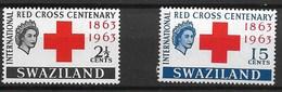 SWAZILAND 1963 RED CROSS - Rode Kruis