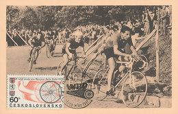 D35170 CARTE MAXIMUM CARD 1967 CZECHOSLOVAKIA - CYCLING RACE WARSZAWA-BERLIN-PRAHA CP ORIGINAL - Cycling