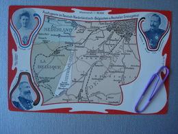 Ausflugsorte Im Deutsch-Niederländsich-Belgischen U. Neutralen Grenzgebiet En 1911 (attention 2 Cartes Différentes) - Belgique