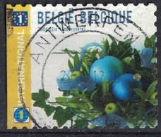Belgique 2009 Oblitéré Used Boules De Noël Bleues SU - Belgique