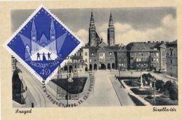 SZEGED GIZELLA SQUARE, CHURCH, OUTDOOR GAMES, CM, MAXICARD, CARTES MAXIMUM, 1996, HUNGARY - Maximumkarten (MC)