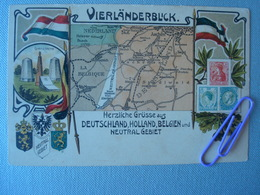 Vierländerblick -  Herzliche Grüsse Aus Deutsch-Niederländsich-Belgischen U. Neutralen Grenzgebiet Vor 1906 - Belgique