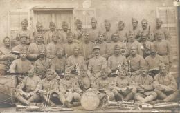 Carte Photo  14-18   - Groupe Militaire De Musique Du 411ème INFie - Guerra 1914-18