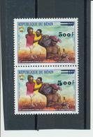 Bénin 2002  '50°an.Entente-Solidarité Surchargé Gros Chiffre 5,oo Avec Normal)  ** Luxe - Signé  TRES RARE - Bénin – Dahomey (1960-...)