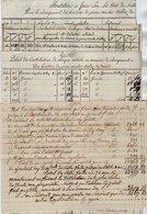 VP13.002 - 1828 - 4 Documents Concernant Le Sr BILLAZ à ALLEVARD - Manuscripts
