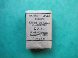 M K - Armee - Leger - 720 0351 - Bande De Gaze Comprimee Kaki Samengeperst Gaaswindel 5 Cm/5 M - Equipement