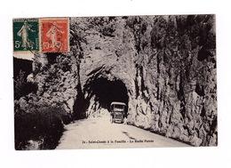 Belle CP Saint-Claude (Jura), La Roche Percée, Route Menant à La Faucille. A Voyagé En 1920 - Saint Claude