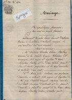VP13.003 - ALLEVARD 1850 - Généalogie - Contrat De Mariage De Mr F.V.E. BILLAZ Caissier  & Delle M.Z. SALVAIN - Manuscripts