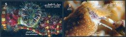 QATAR (2017). Marine Organisms (Sea Anemone & Phylum: Annelida) - 2 Sheets - Vida Marina / Vie Marine - Qatar