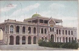 POSTAL DE LIMA DE JOCKEY CLUB DEL AÑO 1907 (PERU) (E. POLACK SCHENEIDER) - Perú