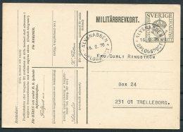 1976 Sweden Military Stationery Postcard Alvsnabben Orlogspost Warship - Sweden