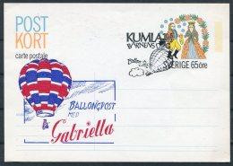 1973 Sweden Barnens Dag Kumla Ballongpost Ballon Stationery Postcard - Sweden