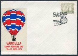 1973 Sweden Barnens Dag Kumla Ballongpost Ballon Cover - Sweden