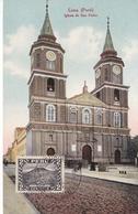 POSTAL DE LIMA DE LA IGLESIA DE SAN PEDRO DEL AÑO 1934  (PERU) (E.POLACK SCHENEIDER) - Perú
