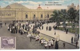 POSTAL DE LIMA DE LA PROCESION DE CORPUS  (PERU) (A.F. OECHSLE) - Perú