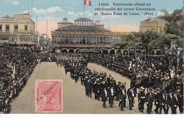 POSTAL DE LIMA DE LA CEREMONIA OFICIAL TERCER CENTENARIO DE SANTA ROSA DE LIMA  (PERU) (LUIS SABLICH) - Perú