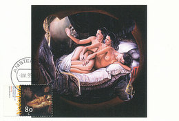 D35186 CARTE MAXIMUM CARD FD 1999 NETHERLANDS - OTHER ARTIST'S IMPRESSION - NUDE DANAE BY REMBRANDTCP ORIGINAL - Nudes