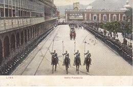 POSTAL DE LIMA DEL DESFILE PRESIDENCIAL DEL AÑO 1908 (PERU) (E.POLACH SCHENEIDER) - Perú