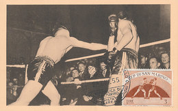 D35188 CARTE MAXIMUM CARD 1955 SAN MARINO - BOXING CP ORIGINAL - Boxe