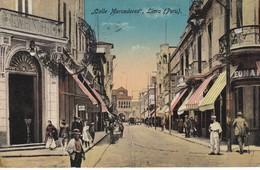 POSTAL DE LIMA DE LA CALLE MERCADERES DEL AÑO 1917 (PERU) (LUIS SABLICH) - Perú