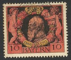 Bavaria, 10 Pf. 1911, Sc # 93, Mi # 93, Used, Schwarzenbach - Bavaria